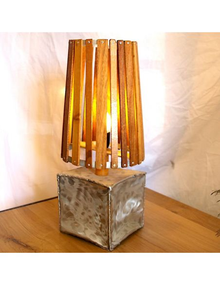 Lamp Wood And Wrought Iron Design By Ariel
