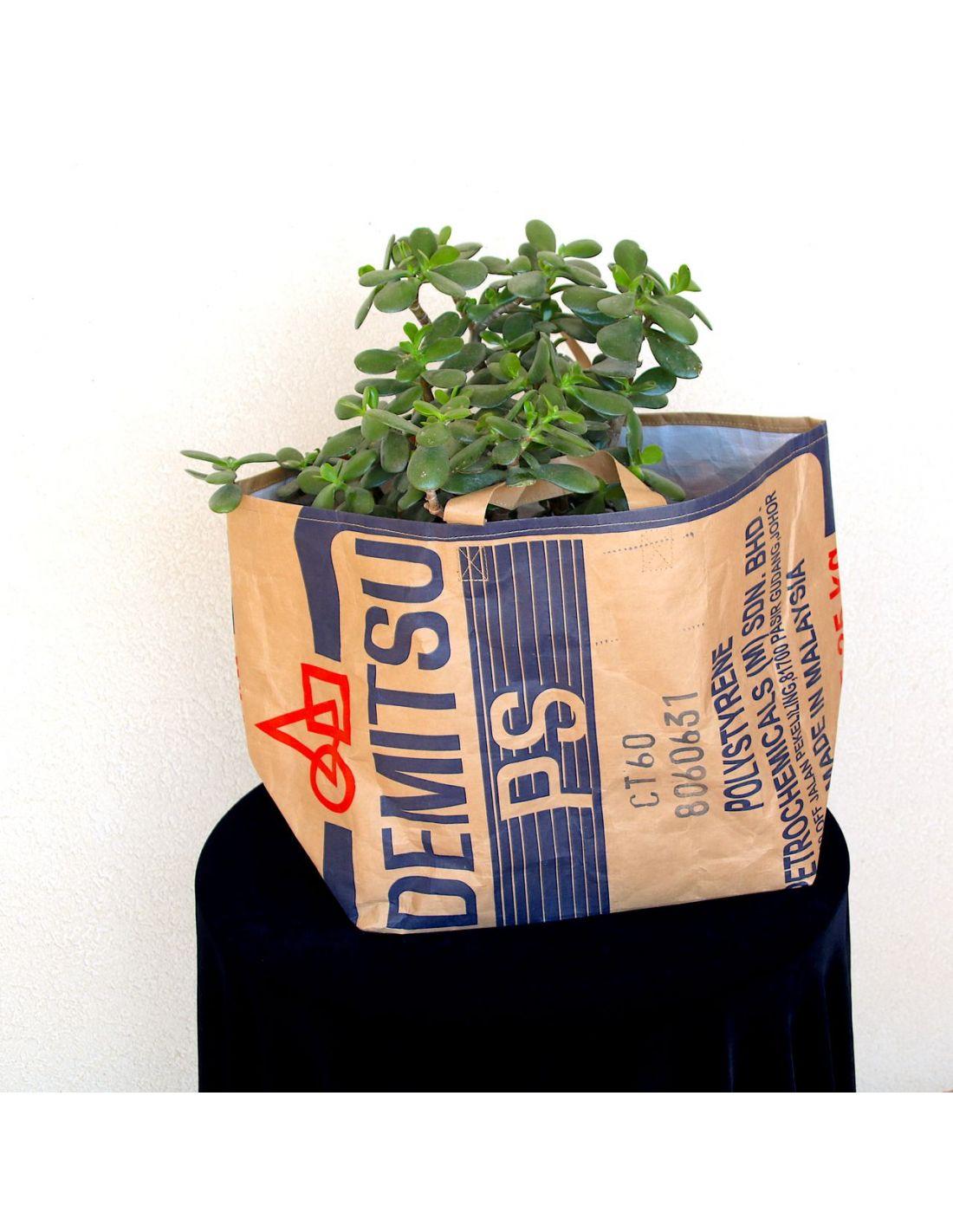 sac en papier recycl u00e9 bangkok bleu et rouge  ville ou d u00e9co