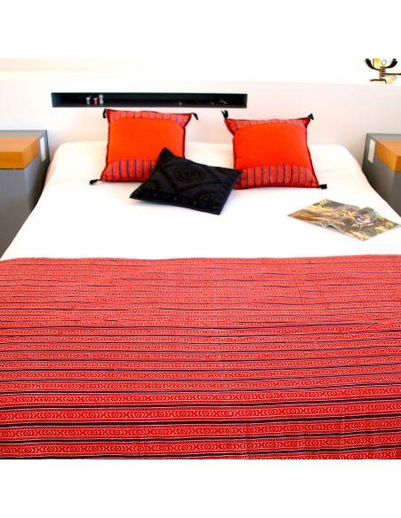 jet de lit matelass coussins orange et tissu indien shiva. Black Bedroom Furniture Sets. Home Design Ideas